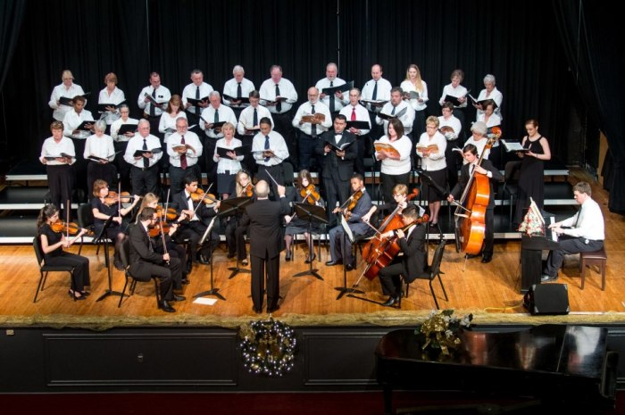 The Berkeley Community Chorus performing in its debut concert at Martinsburg High School on December 1.