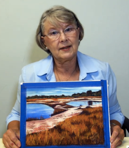 Judith Becker explains painting with pastels in the video http://vimeo.com/103647330