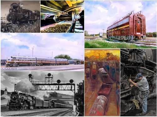 "Selection of images from the ""Heavy Metal"" Railroad Art Exhibit"