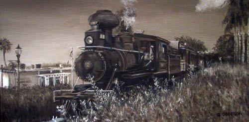 """Mount Dora Locomotive"" by Gerald Obregon - Merit Award"