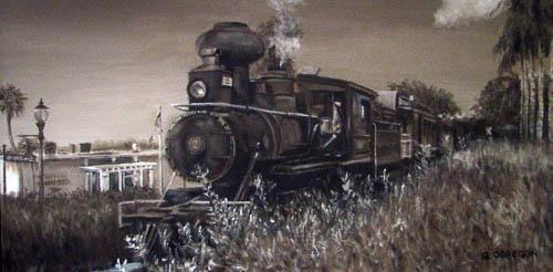 """Mount Dora Locomotive"" by Gerald Obregon - Merit Award"