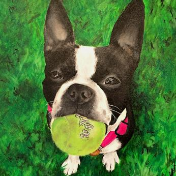 """Dog with Ball"" by Kim Taylor"
