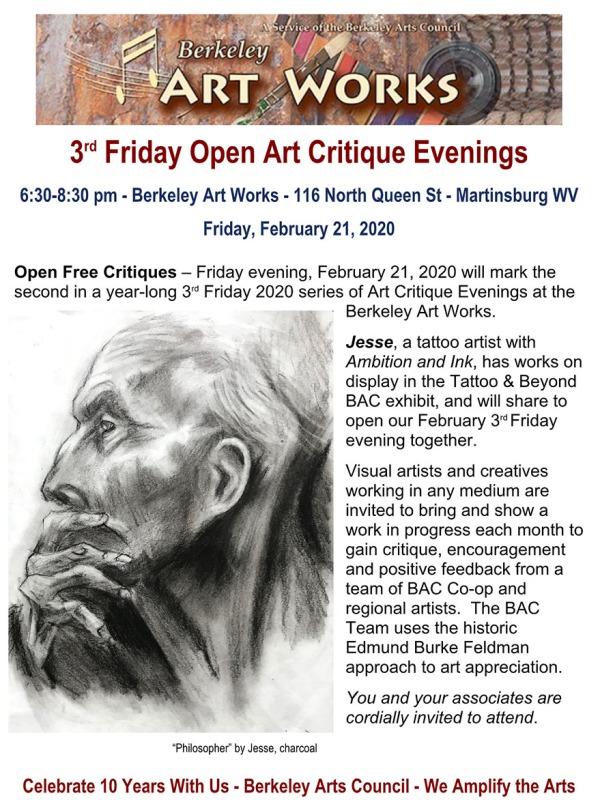 Third Friday Open Critique February 21.