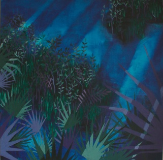 """""""Florida"""" by Alba Baez; Acrylic on Canvas; $1,500 (6 in x 36 in x 1.5 in)"""
