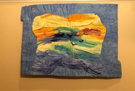 """Rythms"" by Ann Darling; Fabric; NFS (23x17)"