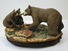 """""""There!"""" by B. Berne Smith; Porcelain (hand built); $1,200 (10w x 5h x 8d)"""