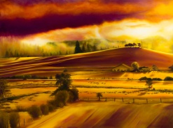 """""""Dad's Place"""" by Bonnie McDermott; Oil on canvas; $1,200 (31.5in x 41.5in x 2.25in)"""