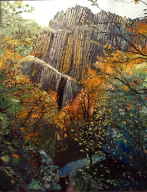 """""""Wasach Folds"""" by Jane Michael; Oil on canvas; $1,000 (21 x 26in x 3in)"""