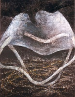 """""""Enormous"""" by Mahera Khaleque; Charcoal, chalk and oil pastel on paper; $1,000 (48in X 38in)"""