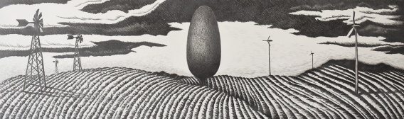 """Territory"" buy Mark Zapico; Graphite pencil on Strathmore 400 Series paper; $600 (40X12)"