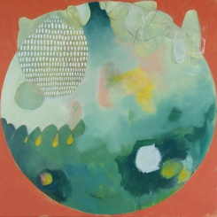 """MERIT AWARD """"All That's to Come"""" by Rachel Crockett Smith; Oil on panel; $635 (13x13in)"""