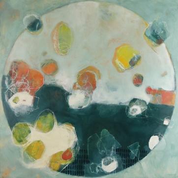 """""""Eyes Wide Open"""" by Rachel Crockett Smith; Oil on panel; $755 (18x18in)"""