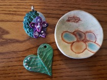 Dish, hibiscus, heart