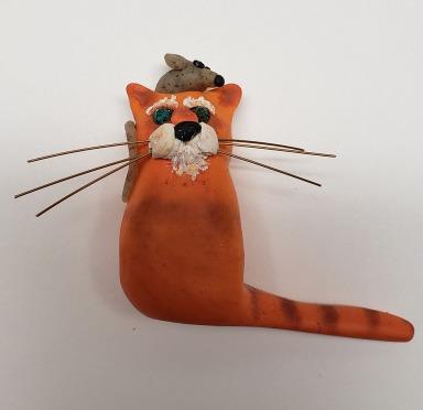 Orange lump cat